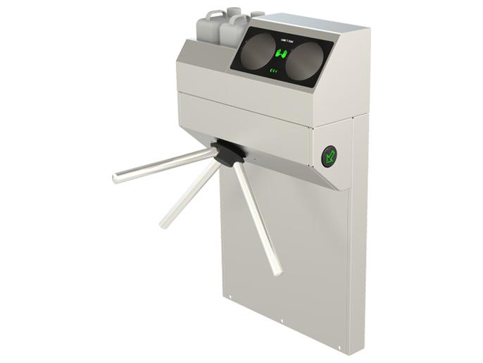 001AVIR800 Турникет-трипод электромеханический высокоинтенсивный AVIR 800 со встроенным санитайзером