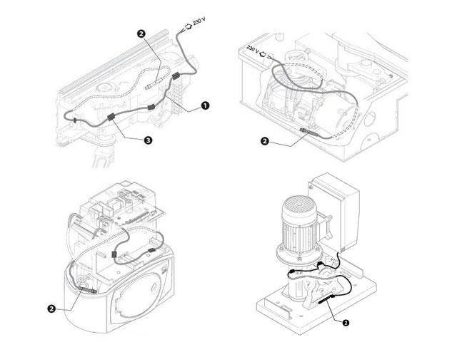 001PSRT02 Кабель нагревательный со встроенным термостатом универсальный для приводов BX, BK, BY