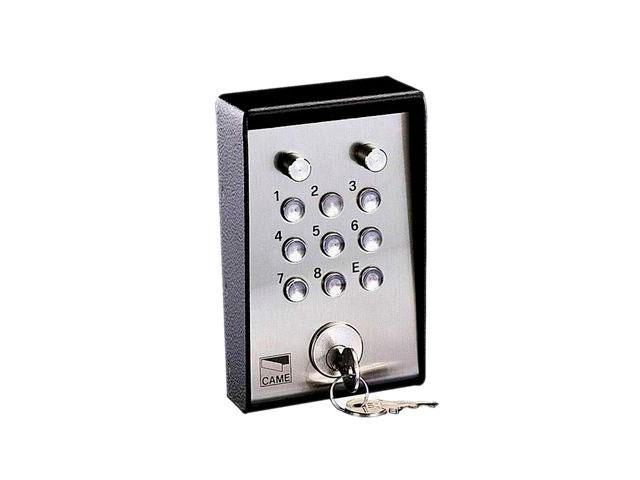 001S5000 Клавиатура кодовая 9-кнопочная / накладная с ключом и подсветкой (16 777 216 кодовых комбинаций)