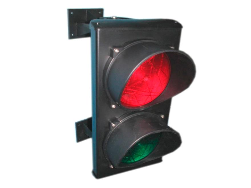 C0000710.2 Светофор светодиодный, 2-секционный, красный-зелёный, 230 В