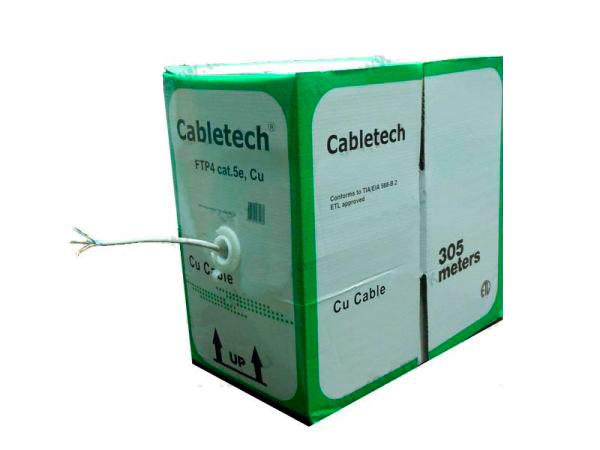 Cabletech кабель витая пара FTP4 cat.5e 4 пары Cu для наружных работ 305м