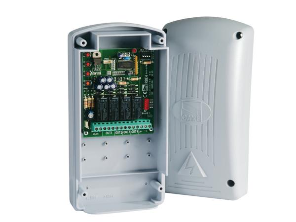 RBE4024 (арт. 806RV-0010) внешний, двухчастотный, 4-канальный радиодекодер, IP54, ~/=12/24В
