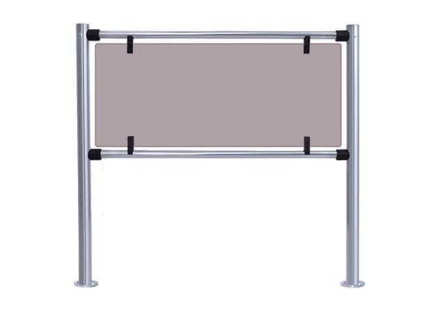 Стекло для заполнения секции ограждения серии PERCo-BH02 длиной 1,0 м