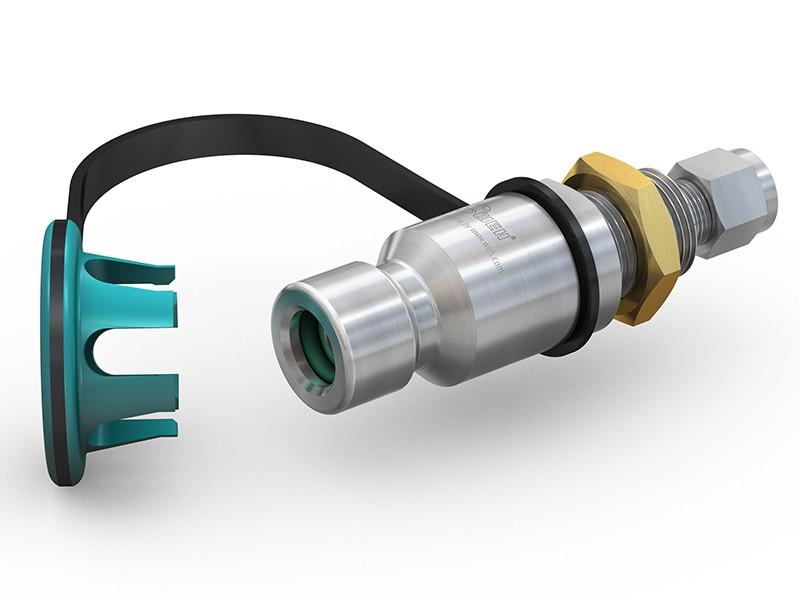 Автомобильный штуцер TN1 для заправки метаном, 200атм, 40мкр (WEH Германия)