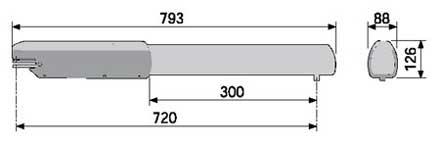 Габаритные размеры привода ATI 3000